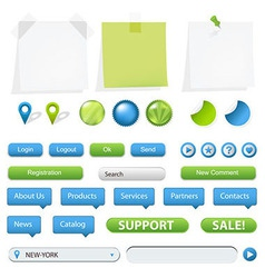 Navigation elements vector