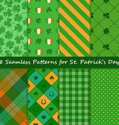 Set of st patricks day seamless pattern vector