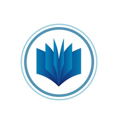 Book logo template blue gradient style vector