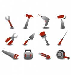Professional repairing tools icons vector
