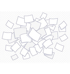 Set of flying business documents on dot b vector
