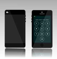 Password on black phone vector