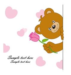 Bear with a flower vector