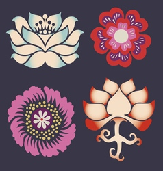 Collection of symbols of a lotus vector