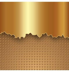 Abstract gold metal background vector