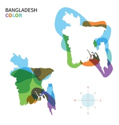Abstract color map of bangladesh vector
