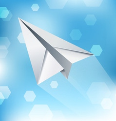 Paper plane abstract background vector