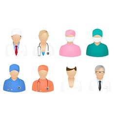 Set of medical people vector