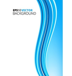 Blue and white waves package background vector