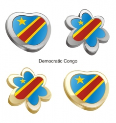 Flag of democratic congo vector