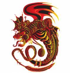 Fiery snakes vector