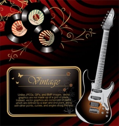 Retro rock music background vector