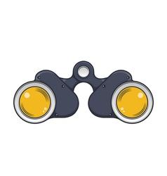 Military old binocular vector