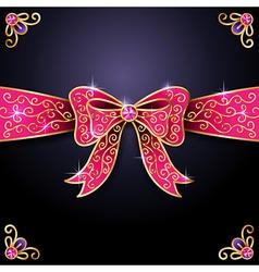 Jewel bow vector