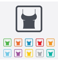 Women t-shirt sign icon intimates and sleeps vector