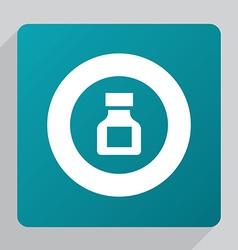 Flat drugs icon vector