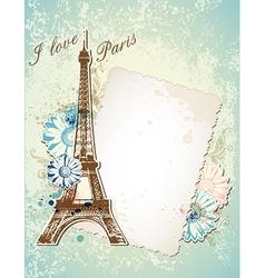 Paris blue background vector