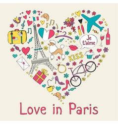 Paris card vector