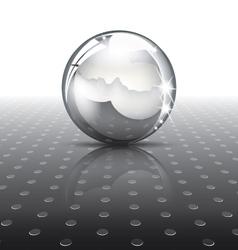 Metal ball vector