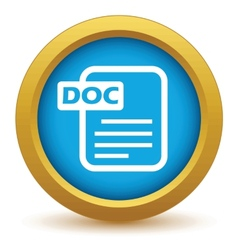 Gold doc icon vector