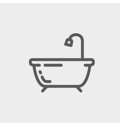 Bathtub thin line icon vector