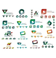 Mega collection of various abstract business vector