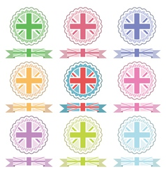 Uk ribbons and emblems vector