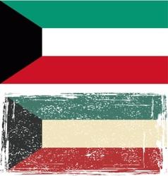 Kuwait grunge flag vector
