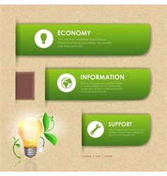 Website template design ecology background vector
