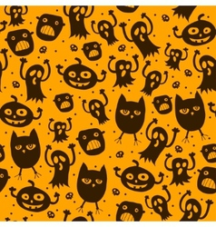Pattern seamless texture with silhouette of a cat vector