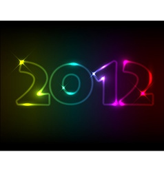 New year card 2012 vector