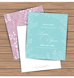 Greeting cards with flowers vector