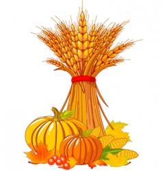 Thanksgiving harvest background vector