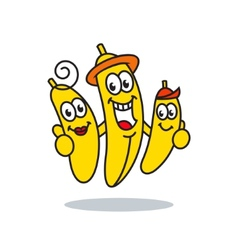 Family bananas sign vector