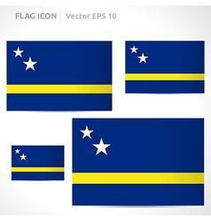 Curacao flag template vector