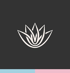 Lotus flower silhouette logo vector