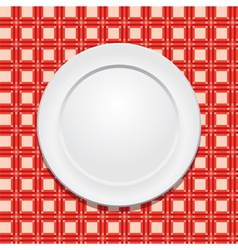 Tablecloth and plate vector