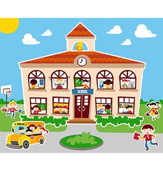 Back to school concept background vector