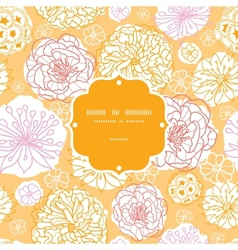 Warm day flowers frame seamless pattern background vector