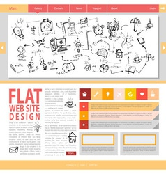 Flat web site design vector