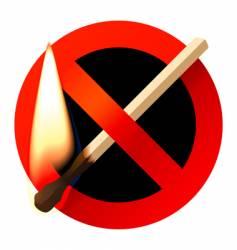 No open fire sign vector
