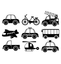 Set of transport vehicles vector