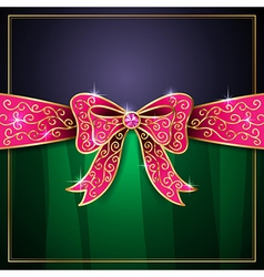 Jewel bow card vector