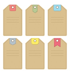 Carton gift or price tags vector