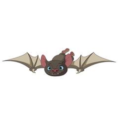 Halloween bat in flight vector