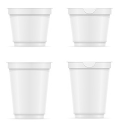 Plastic container of yogurt or ice cream 10 vector