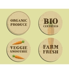 Stylish farm fresh label template with carrot vector