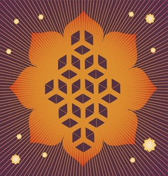 Lotus seed magic poster vector