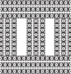 Vintage pattern grayscale background vector