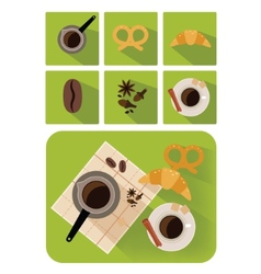 Coffee objects vector
